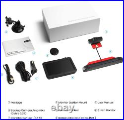 AUTO-VOX Solar Reversing Camera Wireless Kit, 5 Mins DIY Installation, Clear for