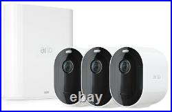 Arlo Pro 3 Indoor/Outdoor Wireless 2K HDR Security Camera System 3 Camera Kit