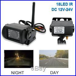 CAR REAR VIEW KIT for Bus Truck 7 LCD MONITOR + 4x IR REVERSING CAMERA WIRELESS