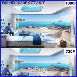 CCTV 4CH 1080P FULL HD DVR Outdoor NightVision 4xCamera Home Security System Kit