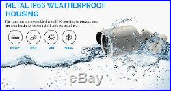 CCTV 4CH 2.4MP 1080P Camera Day Night Vision Waterproof Home Security System KIT