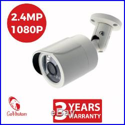 CCTV 8CH DVR 2.4MP 1080P Camera Night Vision Waterproof Home Security System Kit