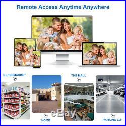 CCTV Camera Security System Night Vision 4CH 720P HD NVR Kit+4 Outdoor IP Camera