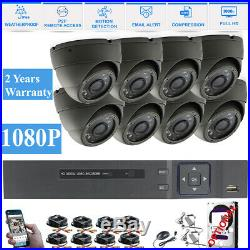 CCTV Full HD 1080P 2.4MP NightVision Indoor/Outdoor DVR Home Security System Kit