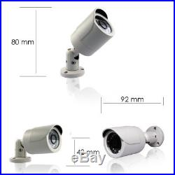 CCTV Full HD 1080P 2.4MP Night Vision Outdoor DVR Home Security System Kit 500GB