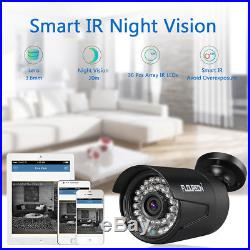 CCTV HD 1080 2.0MP Night Vision Outdoor DVR Home Security System Kit + 1TB HDD