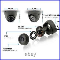 CCTV SYSTEM HDMI HIk-CONNECT DVR DOME NIGHT VISION OUTDOOR CAMERA FULL KIT UK