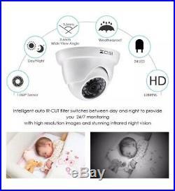 Camara 4 De Seguridad Para Casa profesional Vision Noche Detección de Movimiento