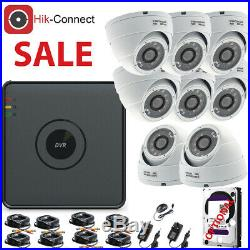 Cctv System Dvr 4ch 8ch Hd Outdoor 20 Nightvision Dome Camera Home Security Kit