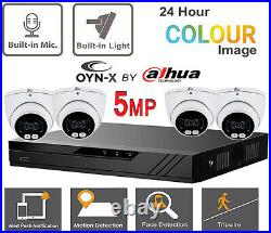 Cctv System Oyn-x Dvr 5mp 24/7 Colorvu Cameras Night Vision Built In MIC Uk Kit