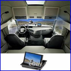 DC Charger Car Reversing Camera 4Pin+7 LCD Monitor Truck Bus Van Rear View Kit