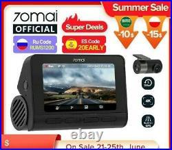 Dash Cam 4K A800S Dual Sight 70mai A800S GPS ADAS Front and Rear Car DVR 22160P