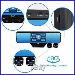 Dash Cam Video Recording System Rearview Backup Kit, 1080p Night Vision Cam