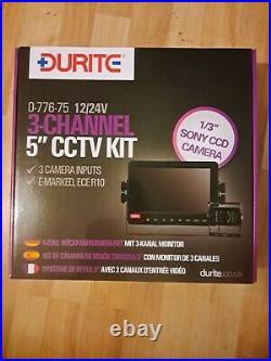 Durite 5 cctv reversing camera kit 12/24v Colour screen remote control