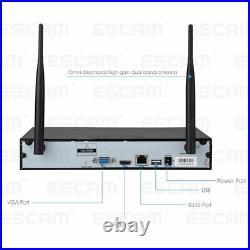 ESCAM 4CH WiFi NVR 4pcs 1080P 2MP Waterproof WiFi IP Camera CCTV System Kit B4T0