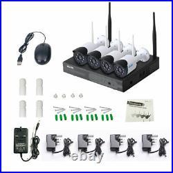 ESCAM 4CH WiFi NVR 4pcs 1080P 2MP WiFi IP Camera Wireless CCTV Security Kit Z6V4