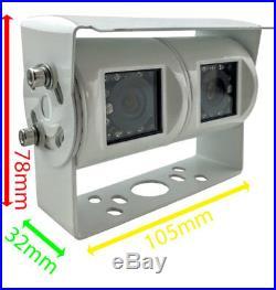 Easy-Fit Hi-Res 5 Dash + White Twin Lens Reversing Rearview Camera Kit PM53W