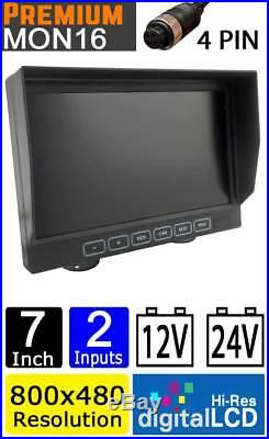 Easy-Fit Hi-Res 7 Dash Reversing Sony 700TVL CCD White Twin Lens Camera Kit