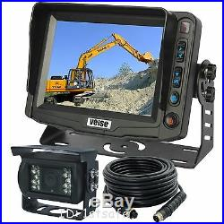 Excavator 5 Digital Rear View Reversing Camera Kit System Cab Video Observation
