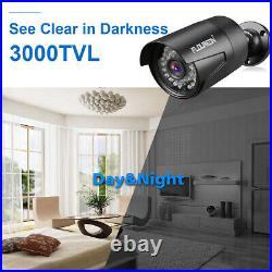 FLOUREON 1080P CCTV System 8CH AHD DVR Outdoor 3000TVL 2.0MP Camera Security Kit