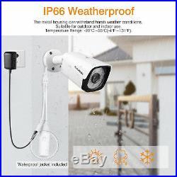 FLOUREON 1TB 1080P 8CH Wireless CCTV System outdoor IP Camera NVR Recorder Kit