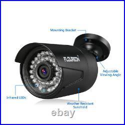FLOUREON 8CH 1080N AHD DVR 3000TVL Outdoor Camera Home Video Security System Kit