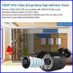 FLOUREON 8CH 1080P AHD DVR 8X Outdoor 3000TVL 2.0MP Camera Security Kit + 1TB EU