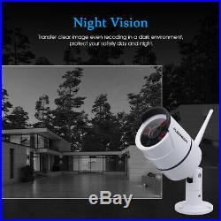 FLOUREON 8CH 12 Monitor 1080P WIFI NVR Outdoor CCTV Camera Wireless System Kit