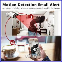 FLOUREON CCTV 4K 1080P HD 5MP Night Vision Outdoor DVR Home Security System Kit