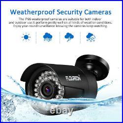 FLOUREON CCTV System Kit 8CH 1080N AHD DVR Outdoor 3000TVL Security Camera Metal