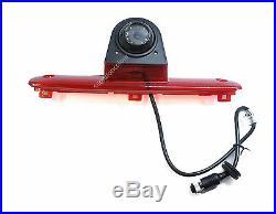 Fiat Ducato 06-15 Rear Reversing Camera LED Brake Light + 7 Inch Monitor Kit