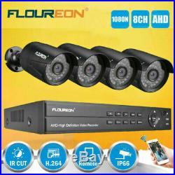 Floureon 1tb Hdd Cctv System Kit 1080p 8ch 5-in-1 Dvr 3000tvl Security Camera Aa