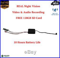 Full HD Built Your Own Hidden Spy Night Vision Motion Detection Camera Kit Audio