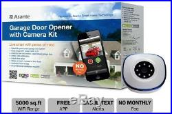 Garage Door Opener with Camera Kit WIFI Night Vision Infrared Lights Smart Home