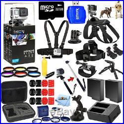 GoPro HERO4 Black Waterproof 4K Camera Camcorder + 32GB MEGA Action Bundle Kit