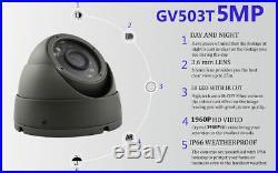 Govision 5MP CCTV SYSTEM UHD 4K DVR 4CH 8CH EXIR 20M NIGHT VISION CAMERA KIT UK