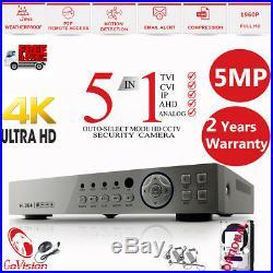 Govision Dvr Hd Cctv System 5mp Varifocal Dome Camera 50m Night Vision Home Kit