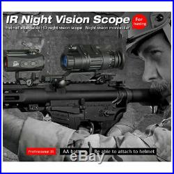 HD Infrared Night Vision Telescope Tactical Rifle Scope Hunting Kit No Helmet