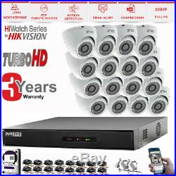 HIKVISION 16CH HD DVR 1080P Night Vision Camera Home Security CCTV System Kit