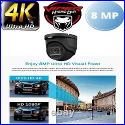 HIKVISION 8MP 4K CCTV DVR NIGHT. V IN/ OUTDOOR DOME Viper Pro CAMERAS FULL KIT
