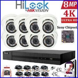 HIKVISION 8MP CCTV 4K UHD DVR 8CH System Outdoor UHD Camera Security Kit IP67