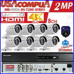 HIKVISION CCTV Security Camera System Kit 8CH TurboHD DVR 1080P (CUSTOM) 4K DVR