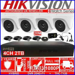 HIWATCH CCTV HD 1080P 2MP Night Vision Outdoor DVR Home Security System Kit 2TB