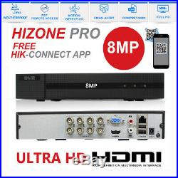 HIZONE PRO CCTV 4K HD 1080P 8MP NightVision Outdoor DVR Home Security System Kit