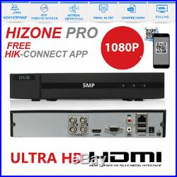 HIZONE PRO CCTV HD DVR 1080P NightVision Camera Home Security System Kit 1TB