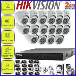 HIkvision 16CH CCTV Full HD DVR 1080P 2.4MP Night Vision Camera Home System Kit
