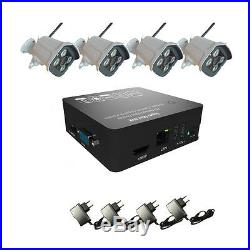 HMQC 4CH 1080P WIFI IP Camera Security System NVR KIT Outdoor Night Vision