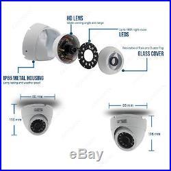 HOME CCTV Full HD DVR 2.4MP Night Vision 1080P IR-CUT Camera Security System Kit