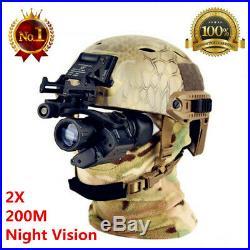HOT Tactical Rifle Scope HD Night Vision Helmet Telescope Hunting Kit Waterproof