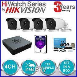 Hikvision 1080p Bullet Cctv Camera System Full Hd 20m Night Vision Kit Wd 1tb Uk